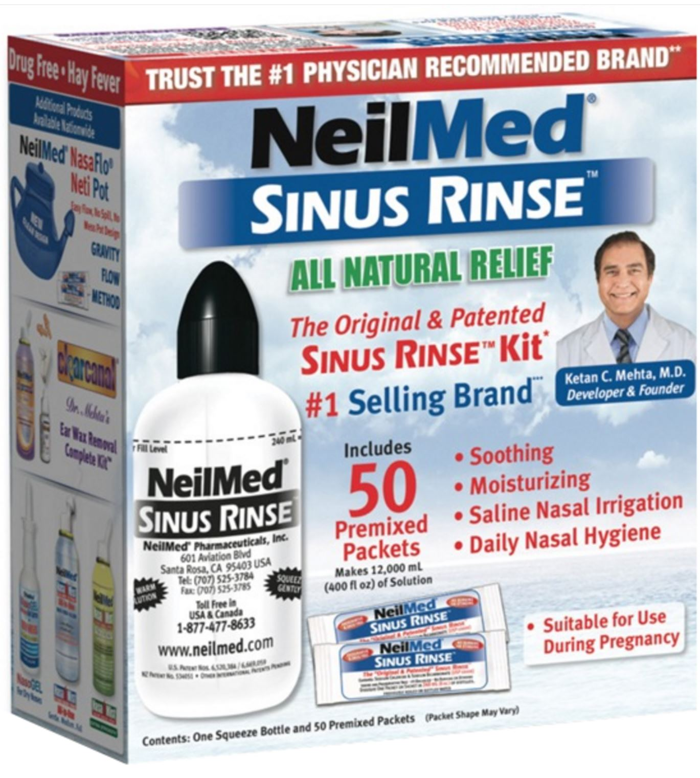 NeilMed Sinus Rinse for congestion during pregnancy
