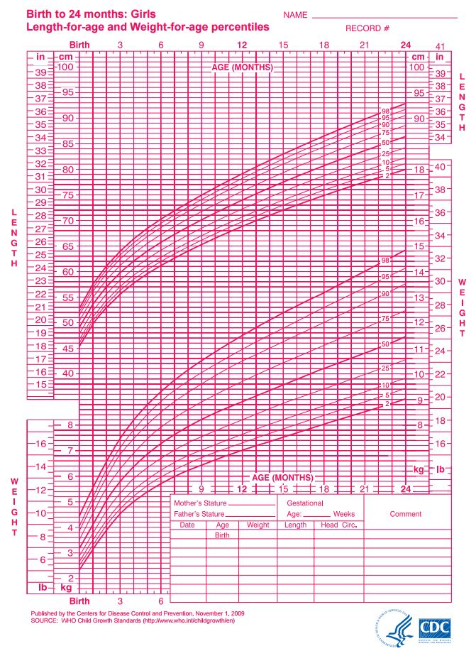 Girls Growth Chart Template Infant Growth Chart Printable Height – Girls Growth Chart Template