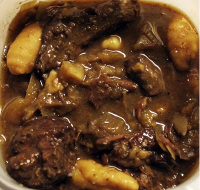 Leftover coffee and wine make a lucious sauce for ordinary beef roast!