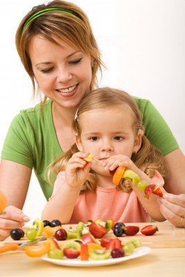 Kids Eating Fruits and Vegetables